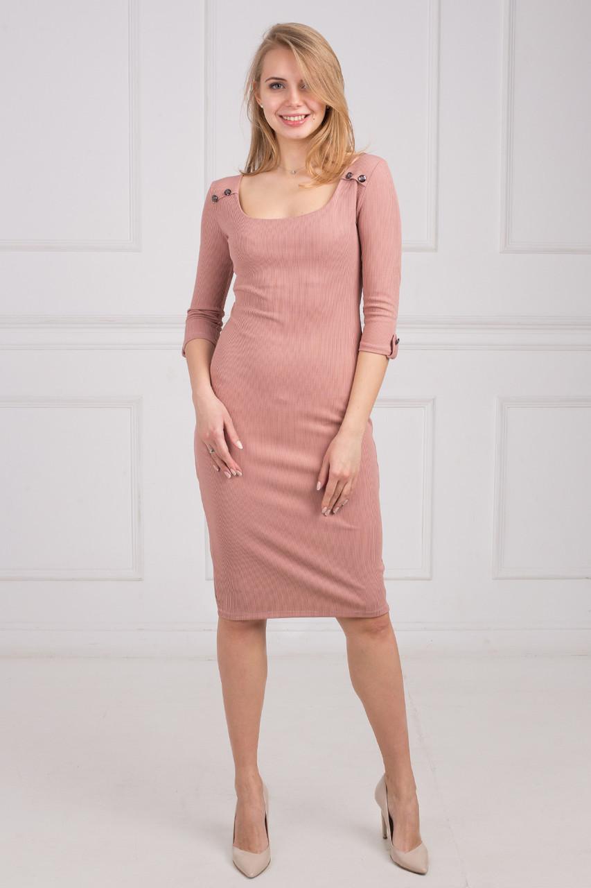 5fbc856685e7d94 Облегающие платья ниже колена широкий круглый вырез, рукав 3/4, цена 260  грн., купить в Хмельницком — Prom.ua (ID#512886683)