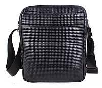 Повседневная мужская кожаная сумка черная