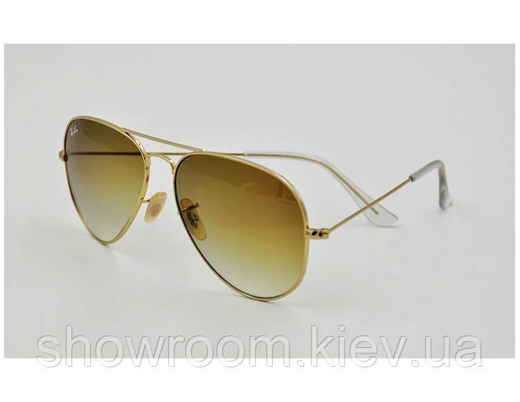 Мужские солнцезащитные очки в стиле RAY BAN aviator  3025,3026 gradient LUX