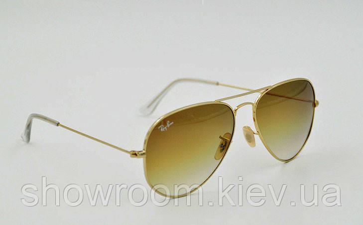 Женские солнцезащитные очки  в стиле Ray Ban aviator 3025,3026 gradient Lux