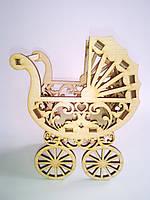 Заготовка коляска-корзинка для цветов