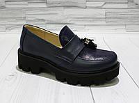 Модные туфли для девочки. Натуральная кожа 0541