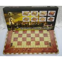 """Игра настольная """"3-В-1"""" (шахматы, шашки, нарды) деревянная коробка, 30 см."""