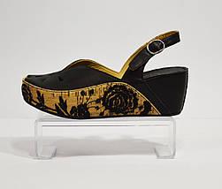 Черные босоножки на платформе кожаные Aquamarine 9065, фото 2