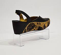 Черные босоножки на платформе кожаные Aquamarine 9065, фото 3