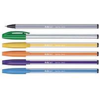 """Ручка шариковая 554-D """"Полосатая"""" (синяя)"""