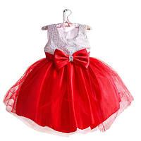 Платье детское 6 лет нарядное красно белое
