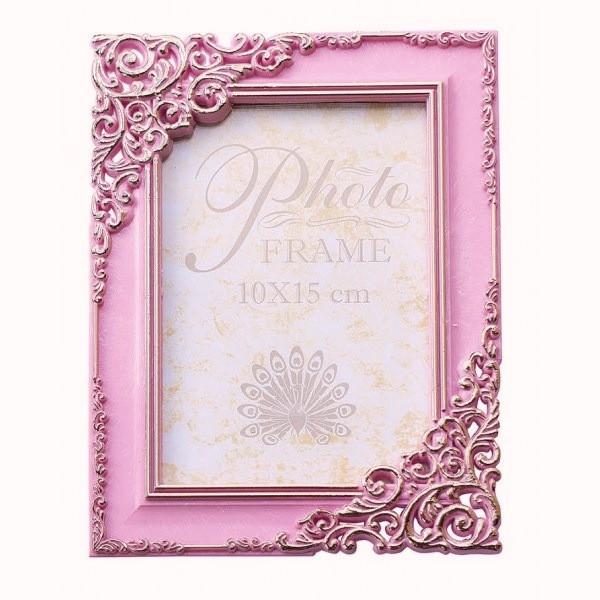 Фоторамка 10х15 розовая (стекло антиблик)