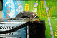 Кабель медный 2 жилы в экране плоский, диаметр 2,6х5,2мм, чёрный