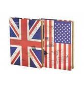 "Блокнот JGHY-161051-7009 ""Британский/Американский флаг"" (18*26 см.)"