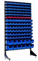 Витрина с пластиковыми ящиками 120 ящиков