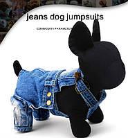 Комбинезон джинсовый для собаки. Одежда для собак