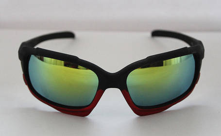 Практичные мужские солнцезащитные очки для спорта в черно-бордовом цвете, фото 2