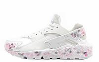 Фирменные кроссовки мужские  Nike air huarache RLX custom white