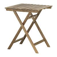 """IKEA """"АСКХОЛЬМЕН"""" Садовый стол, складной серо-коричневый серо-коричневая морилка, 60x62 см"""