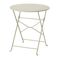 """IKEA """"САЛЬТХОЛЬМЕН"""" Садовый стол, складной серо-коричневый серо-коричневая морилка, 65 см"""