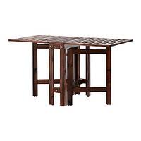 "IKEA ""ЭПЛАРО"" Складной стол, садовый, коричневый коричневая морилка, 20/77/133x62 см"