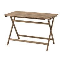 """IKEA """"АСКХОЛЬМЕН"""" Садовый стол, складной серо-коричневая морилка, 112x62 см"""