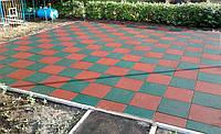 Резиновая плитка  для дачи и сада (толщина 20 мм, размеры 1000 на 1000 мм)