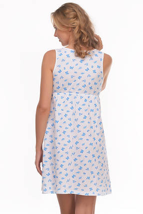 Ночная рубашка для кормящих и беременных 100% хлопок, фото 2