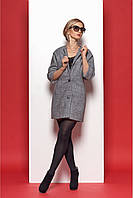 Ультрамодное шерстяное пальто в стиле шанель на пуговицах