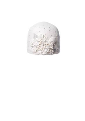 Красивая шерстяная шапочка с аппликацией ручной роботы, фото 2
