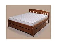Деревянная кровать «Альфа 4» (с подкроватным ящиком)
