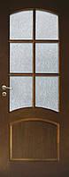 Двери Каприз модель 5 со стеклом шпон натуральный