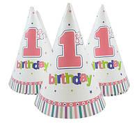 Колпачок на голову 1 первый день рождения для девочки