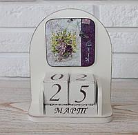 """Вечный календарь деревянный """"Букет"""". Подарки в стиле Прованс"""