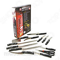 Набор ножей Miracle Blade (Мирэкл Блэйд) 12шт + универсальный нож в подарок! (Арт. 3772)