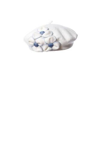 Чудовий вовняної беретик з аплікацією ручної роботи, фото 2