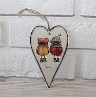 """Деревянная открытка """"Друзья"""". Подарки в стиле Прованс"""
