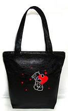 """Женская сумка - """"Мишка"""" Б222 - черная"""