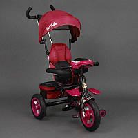 .Велосипед 3-х колёсный 6699 Best Trike (1) КРАСНЫЙ, надувные колёса, поворотное сидение, фара, ключ зажигания