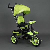 .Велосипед 3-х колёсный 6699 Best Trike (1) САЛАТОВЫЙ, надувные колёса, поворотное сидение, фара, ключ зажигания