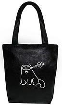 "Женская сумка - ""Мяу..."" Б221 - черная"