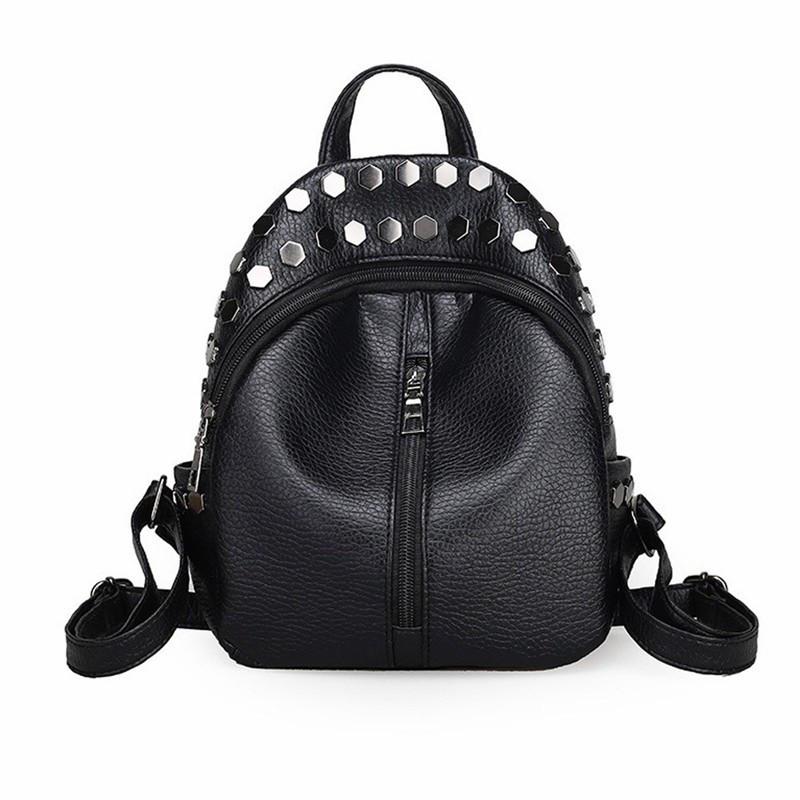Чёрный рюкзак с заклёпками рюкзак с капюшоном купить москва