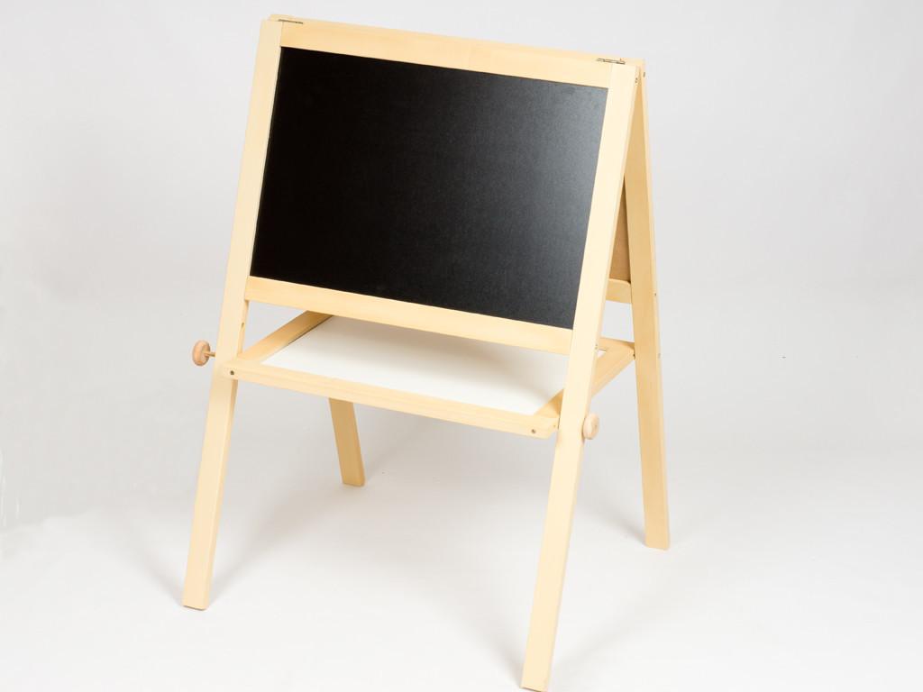 Напольный мольберт деревянный двухсторонний с магнитной доской 60х40х100 см