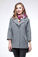 Демисезонное пальто женское из шерсти свободного кроя Аглая