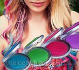 Цветная пудра( мелки) для волос цветные Hot Huez, фото 2