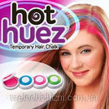 Цветная пудра( мелки) для волос цветные Hot Huez, фото 3