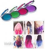 Цветная пудра( мелки) для волос цветные Hot Huez, фото 5
