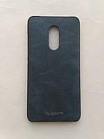 Силиконовый чехол My Color для Xiaomi Redmi Note 4 под кожу темно синий