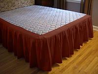 Подзор для кровати Складки Модель 4 Винный