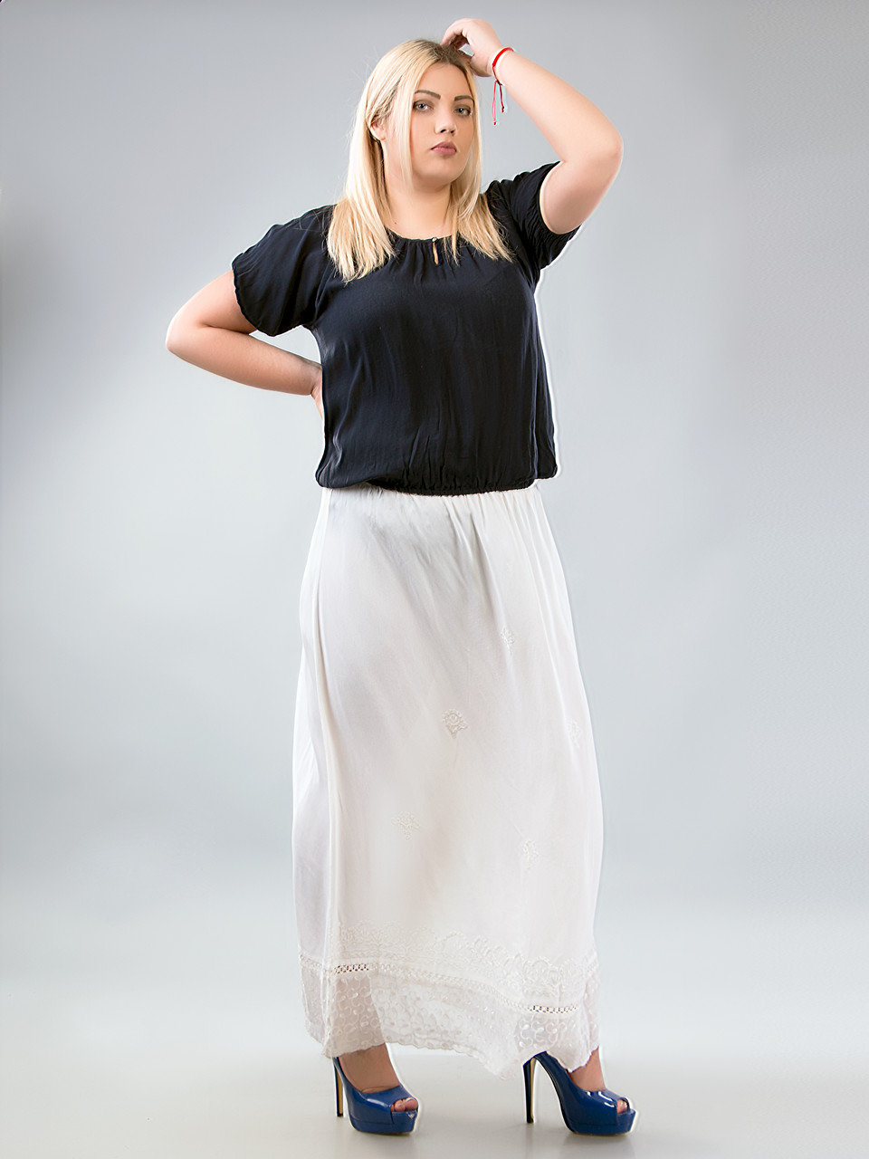 Белая юбка 52 размера