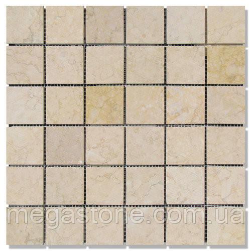 Мраморная мозаика МКР-3П (полированная)48*48*6 Sunny Mix