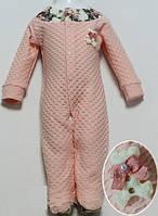 Человечек для девочки ткань фактурный кулир 100 % хлопок