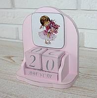 """Вечный календарь """"Девочка с букетом"""". Подарки в стиле Прованс"""