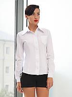 Женская белая рубашка с длинным рукавом